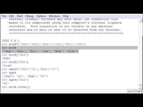 Python Programming Tutorial – 19 – Dictionary