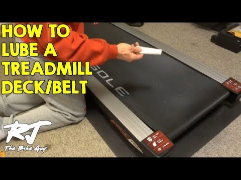 treadmill - How to lube treadmill deck/belt. I use silicone based lubricant directly from the treadmill manufacturer. My treadmill is a Sole F85, but the process is the ...