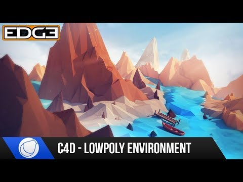 Cinema 4D Tutorial for Beginners - How to Create a Low Poly Environment