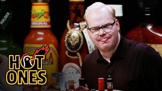 Jim Gaffigan Rediscovers His Flop Sweat Eating Spicy Wings | Hot Ones