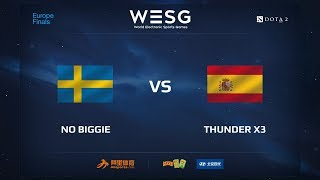 No Biggie vs Thunder x3, WESG 2017 Dota 2 European Qualifier Finals