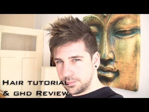 Men Hair Styling Tutorial Trend 2013 with ghd Mini Styler