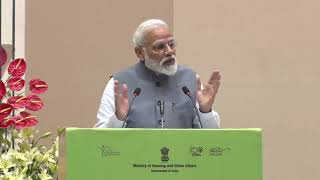 Hon'ble PM addressing the GHTC-Construction