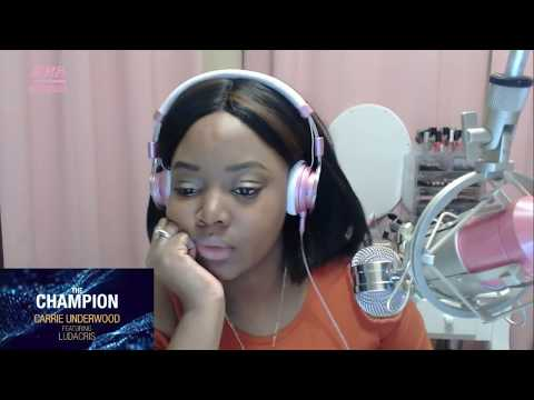 Video CARRIE UNDERWOOD - THE CHAMPION FT. LUDACRIS (OFFICIAL LYRIC VIDEO REACTION) download in MP3, 3GP, MP4, WEBM, AVI, FLV January 2017