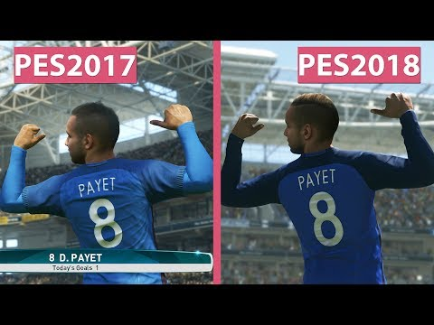PES 2018 | Pro Evolution Soccer 2018 Beta vs. PES 2017 Graphics Comparison