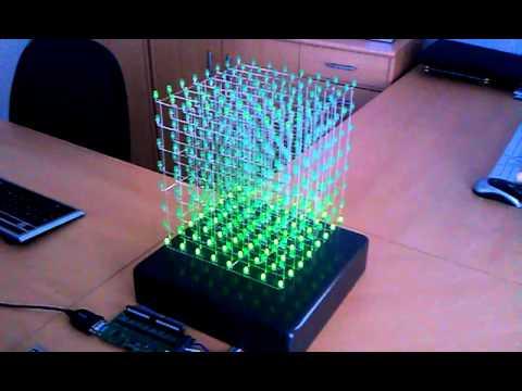 Led cube 8x8x8 своими руками