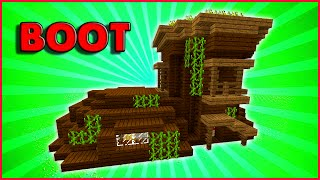 Survival Boot House | Minecraft: How To Build A Small Survival House Tutorial ( Unique House )