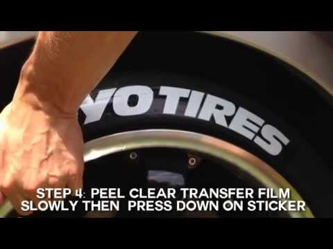 Toyo Tires Peel & Stick Tire Stickers - Application Guide
