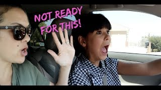 TEEN DRIVES for the FIRST TIME EVER! Driving with MOM!
