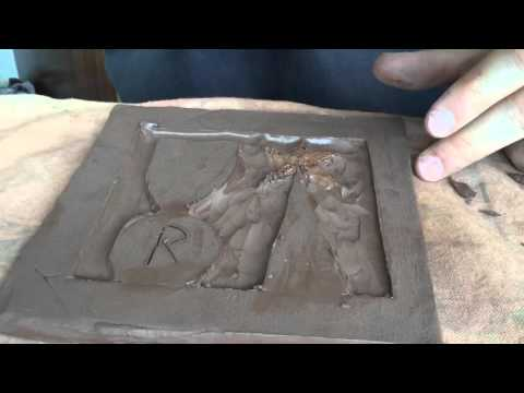Making A Relief Clay Tile