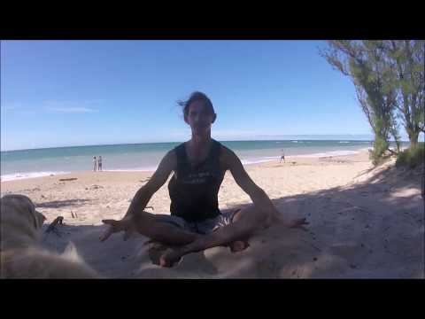 Neck Release Pose & Shoulder Shrugs - Learn these Forrest Yoga Poses taught by Shaun Suller