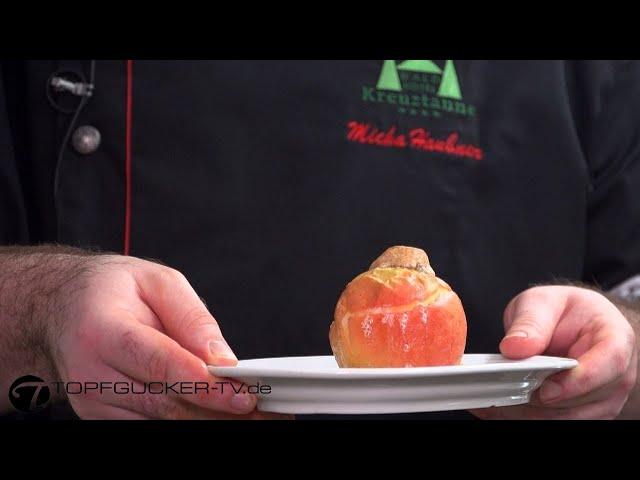 Gefüllter Bratapfel zeigt die Freude am Leben | Neinerlaa Weihnachtsessen der Erzgebirger