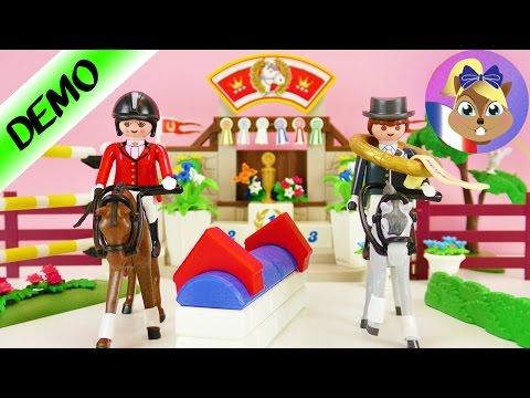 Manège de concours Playmobil | Saut d'obstacle et récompenses pour les vainqueurs