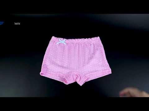 Нижнее белье для девочек трусы боксеры из органического хлопка 5 шт./… видео