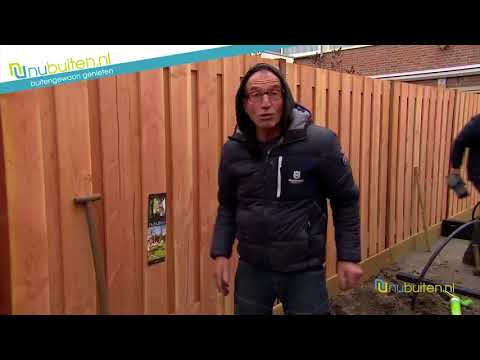 Carpgarant | Scherm Douglas fijnbezaagd | 19-planks 180x180cm
