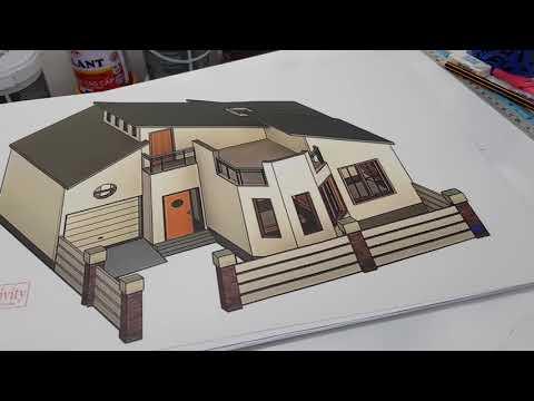 Thiết kế nhà ở bằng bút chì và thước kẻ