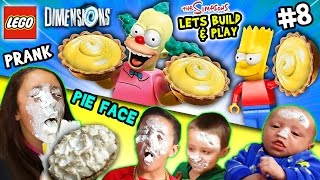 Lets Build & Play LEGO Dimensions #8: KRUSTY PIE IN YOUR FACE!  The Simpsons Fun Pack (FGTEEV Prank)