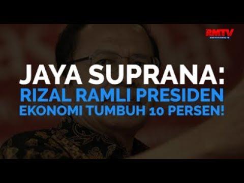 Jaya Suprana: Rizal Ramli Presiden, Ekonomi Tumbuh 10 Persen!