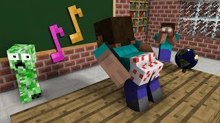Video Monster School: The Mobs Caught Steve Dancing in the Classroom - Minecraft Animation MP3, 3GP, MP4, WEBM, AVI, FLV Agustus 2018