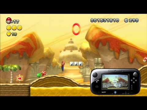 Walkthrough New Super Mario Bros U - Nintendo Wii U - Episode 4 + gameplay gamepad