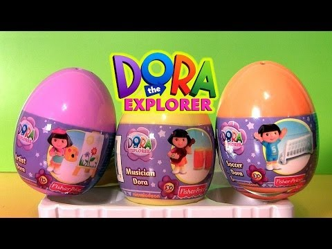 Dora Surprise Eggs Easter Huevos Nickelodeon Dora the Explorer Toys Sorpresa Toy Review Fisher-Price
