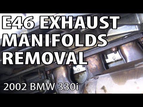 BMW E46 Exhaust Removal #m54rebuild 4