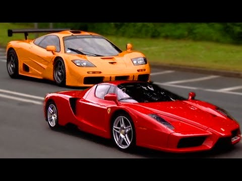 F1 - In this classic Fifth Gear clip, Tiff gets to see which car is best. The Ferrari Enzo or the McLaren F1! For more fantastic car reviews, shoot-outs and all y...