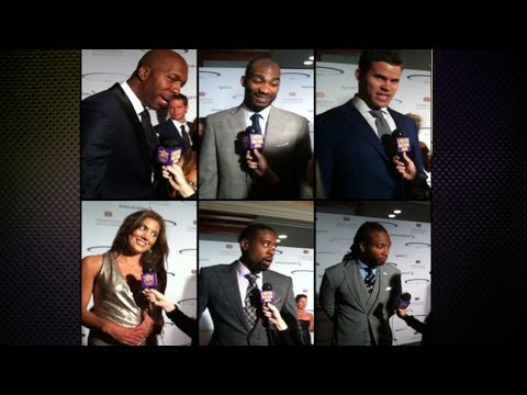 humphries - [5/20/13] LakersNation.com's Serena Winters made it out to this year's Sports Spectacular 2013, honoring Hope Solo, Chris Paul, Jason Collins, Colin Kaeperni...