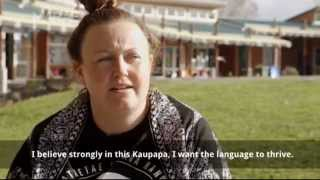 Ana Berry's one of the funniest teachers you'll ever meet. She's also part of a small group of Pākehā working in kura kaupapa. Reporter Yvonne Tahana went to ...