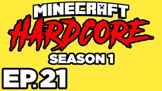 Minecraft: HARDCORE s1 Ep.21 - NETHER FORTRESS, WITHER SKELETONS & BLAZES!!! (Gameplay / Let's Play)