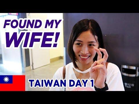 Reunited With Wife in Taiwan (Day 1) Taiwanese Breakfast & Bubble Tea (видео)