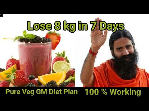 How To Lose 8 kg in 7 Days || diet plan to lose weight in 1 week