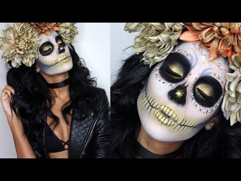 Gold Sugar Skull | Makeup Tutorial & Costume