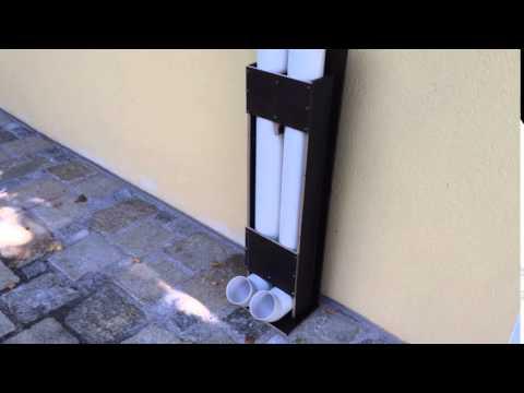 Polokalrohr als Futterbehälter