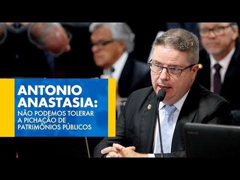 Antonio Anastasia: Não podemos tolerar a pichação de patrimônios públicos