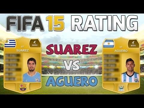 predictions - Fifa 15 Player Ratings, Suarez vs Aguero! I have predicted the ratings of Barcelona's new signing Suarez and and Man City's Aguero in Fifa 15 and compared the predictions! Who will be the better...