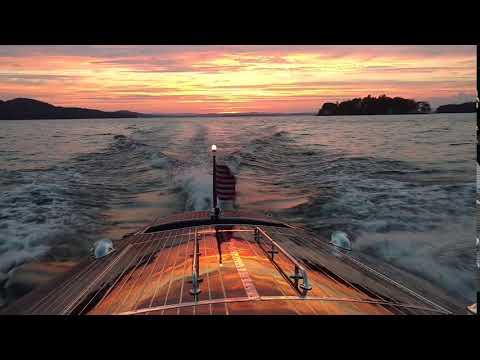 Wooden Boat Ride on Lake Winnipesaukee