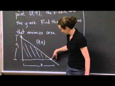 Minimum Triangle Area | MIT 18.01SC Single Variable Calculus, Fall 2010