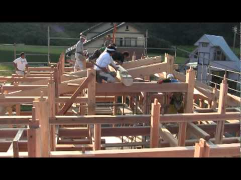 The build of a traditional wood Japanese House