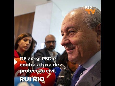 OE 2019: PSD é contra a taxa de proteção civil