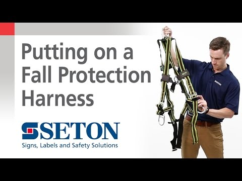 How to Put on a Fall Protection Harness | Seton Video