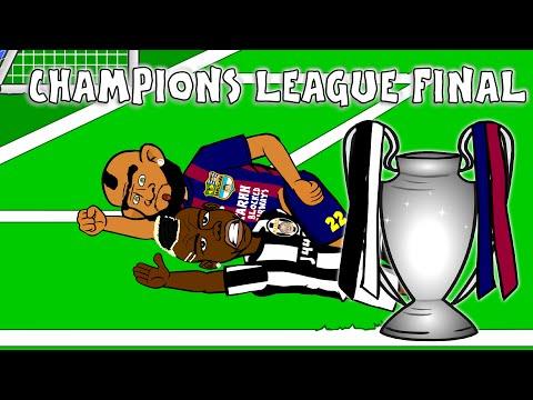 👑CHAMPIONS LEAGUE FINAL👑 HIGHLIGHTS 2015 CARTOON!!! Goals Juventus 1-3 Barcelona