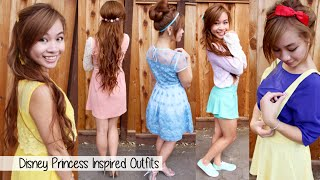 Disney Princesses Outfits Ideas l Cartoon Character Outfits Fashion Lookbook - YouTube