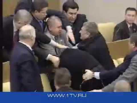 Драка Жириновского с Савельевым