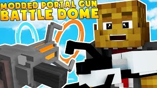 Minecraft PORTAL GUNS AND GRAVITY GUNS MODDED BATTLEDOME CHALLENGE - Minecraft Mod (Part 2)