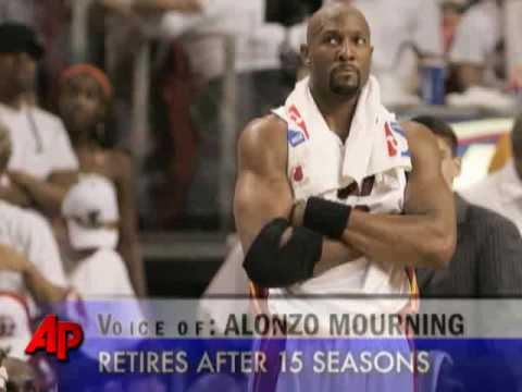 Alonzo Mourning Announces His Retirement (видео)