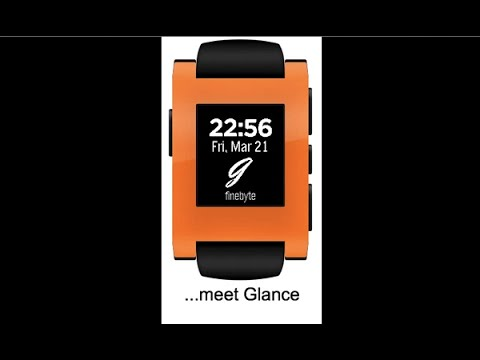 Video of Glance for Pebble
