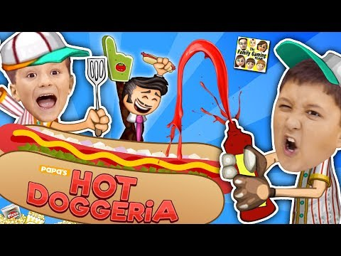 PAPA'S HOT DOGGERIA 🌭 FGTEEV LAST VIDEO of 2017! Mike & Chase Hilarious Gameplay w/ Doofy Customers (видео)
