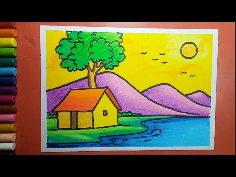 Easy and simple Landscape drawing