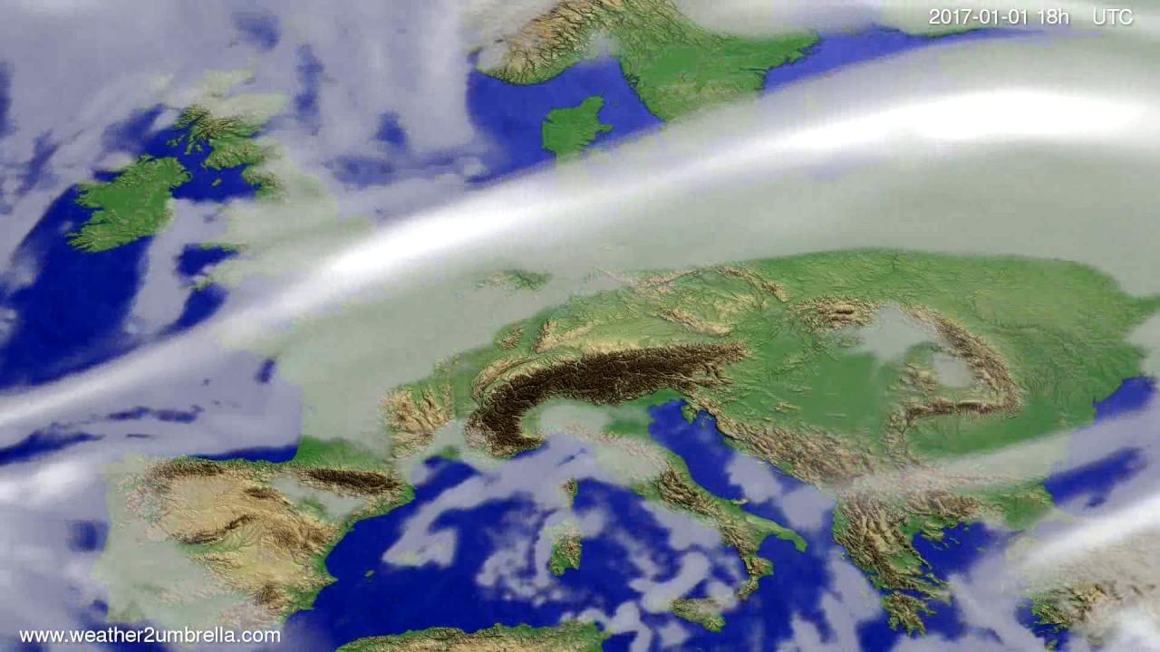 Cloud forecast Europe 2016-12-29